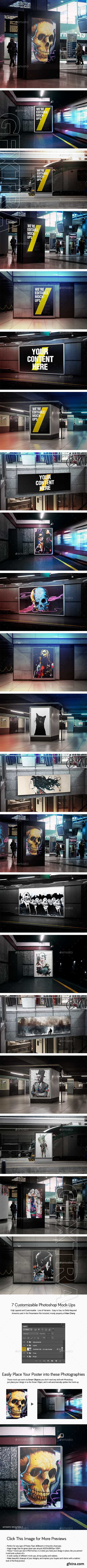 GraphicRiver - Double Light Flyer and Poster Urban Mock-ups - Set Pack 21360705