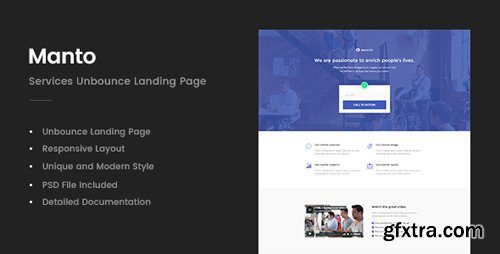 ThemeForest - Manto - Services Unbounce Landing Page (Update: 24 November 17) - 20775949