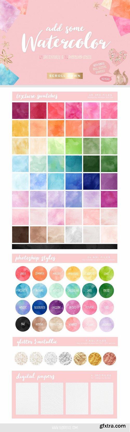 CM - Watercolor Textures Creation Kit 1863888