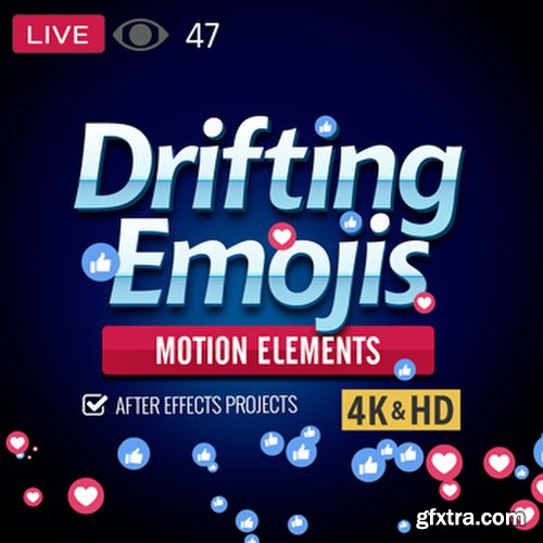 Drifting Emoji - After Effects Project