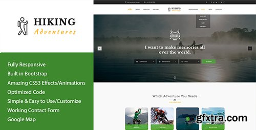 ThemeForest - Hiking Adventures v1.0 - Outdoors & Hiking HTML Template - 21325620