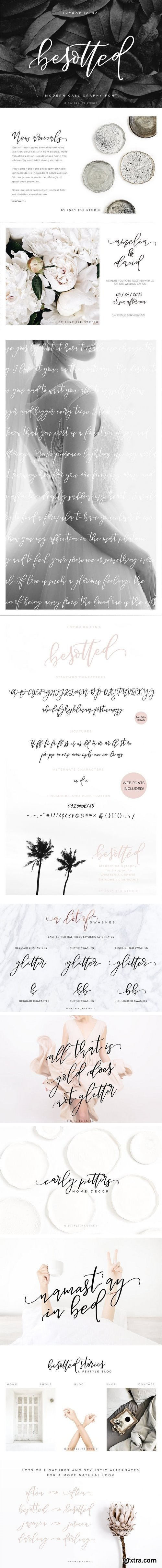 CM - Besotted Modern Calligraphy Script 2059608
