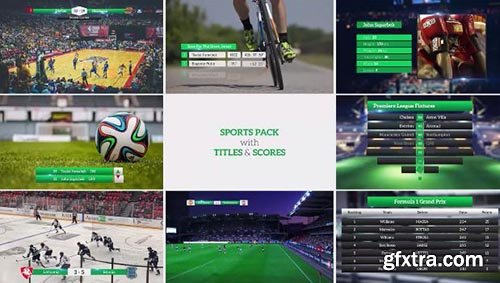 Sports Pack With Titles And Scores - Premiere Pro Templates 63937