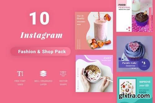 Instagram Social Media Pack - Food Edition