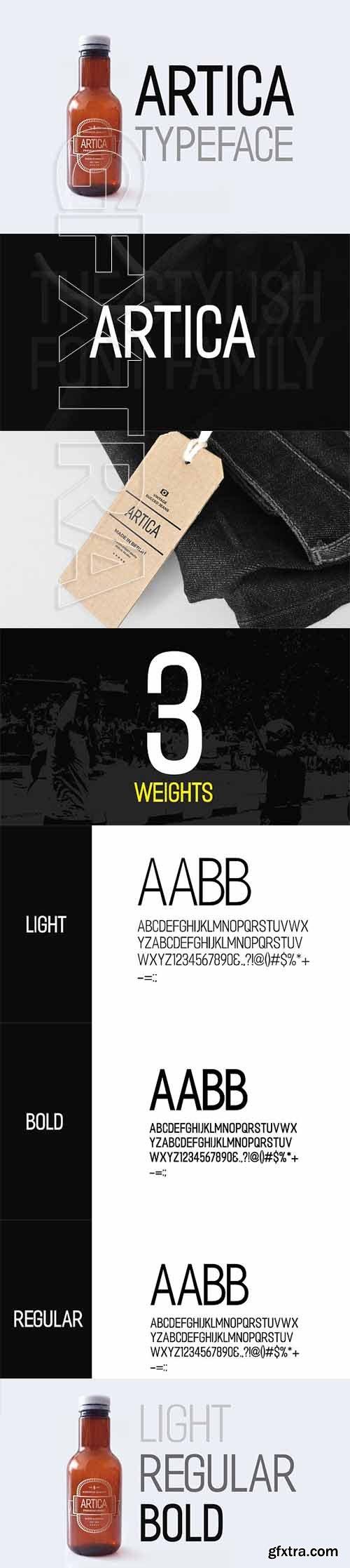 CreativeMarket - ARTICA - Display Typeface + Web Font 2313149