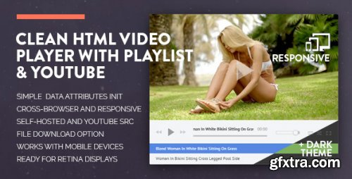 CodeCanyon - Clean HTML Video Player with Playlist & YouTube - 12240439 - V1.2