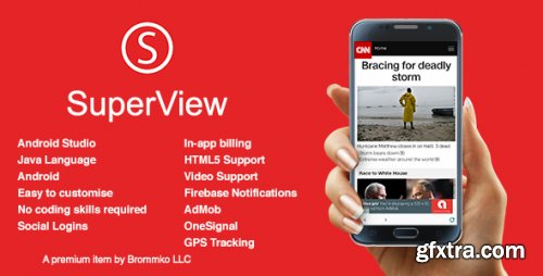 CodeCanyon - SuperView - WebView App for Android with Push Notification, AdMob, In-app Billing App - 18033758 - V2.0.4