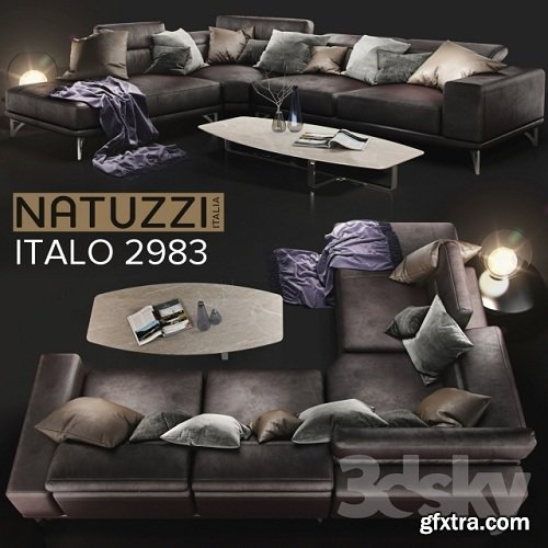 Sofa NATUZZI Italo 2983 3d Model
