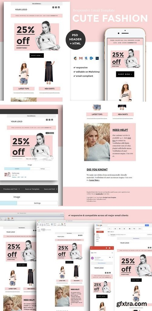 CM - Fashion Email Template (psd + html) 1540885