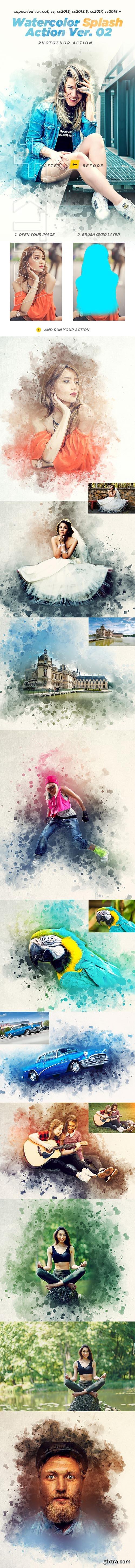 GraphicRiver - Watercolor Splash Photoshop Action Ver. 02 21461987
