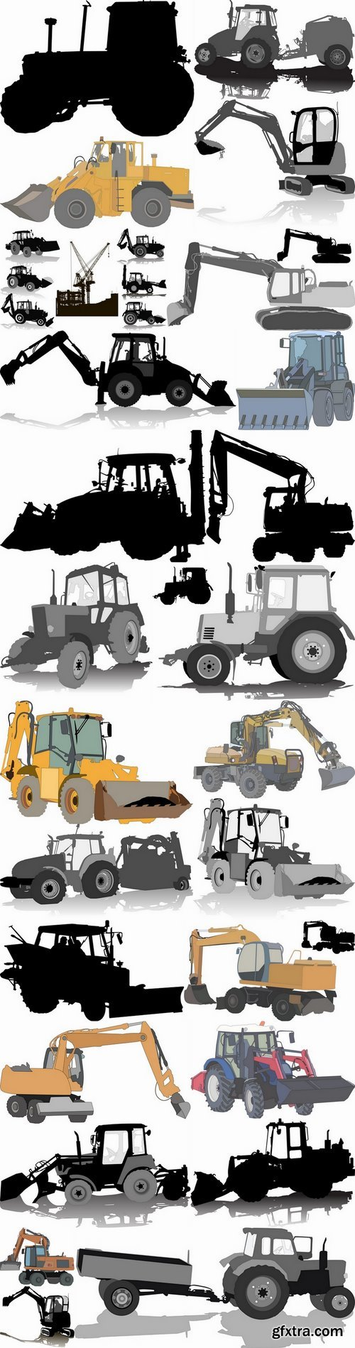 Tractor excavator bulldozer construction equipment 25 EPS