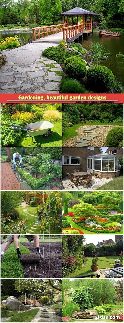 Gardening, beautiful garden designs
