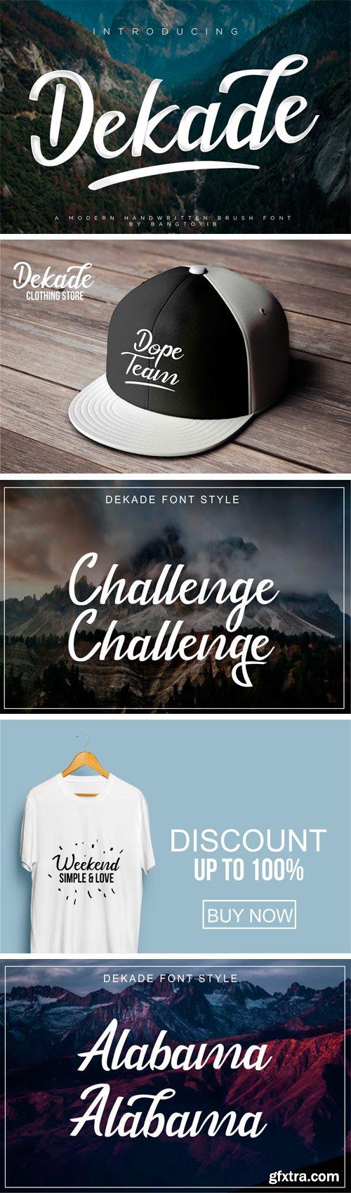 Fontbundles - Dekade Brush Font 64854