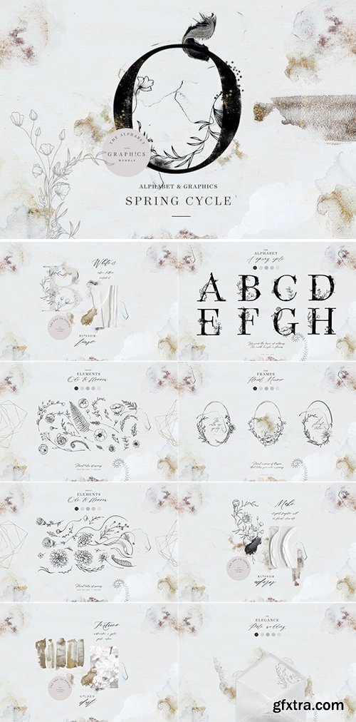CM - Spring Cycle Alphabet & Graphics 2286824