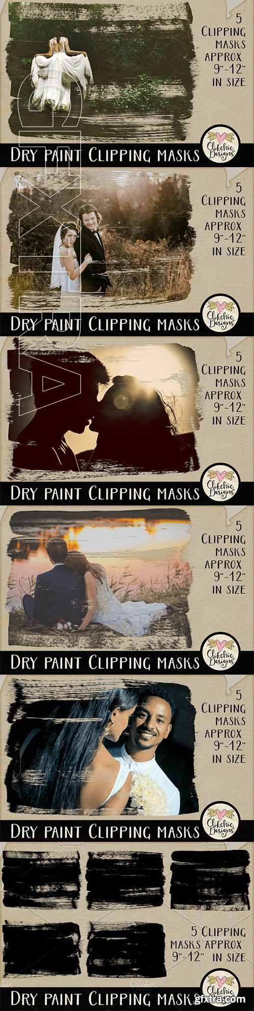 CreativeMarket - Dry Paint Photoshop Clipping Masks 2347811
