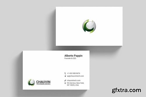 Technology Corporate Business Card