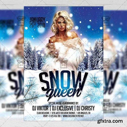 Snow Queen – Seasonal A5 Flyer Template