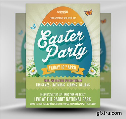 Easter Party Flyer Template v6