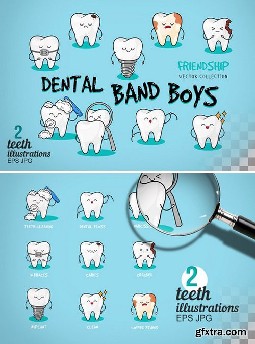 CM - Happy teeth set. Dental print 2323171