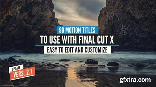 Videohive - 99 Final Cut X Titles Pack - 14050399 (Updated 22 January 18)