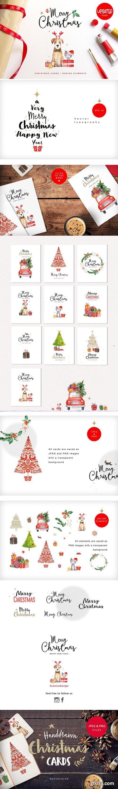 CM - Merry christmas & happy new year set 1068453