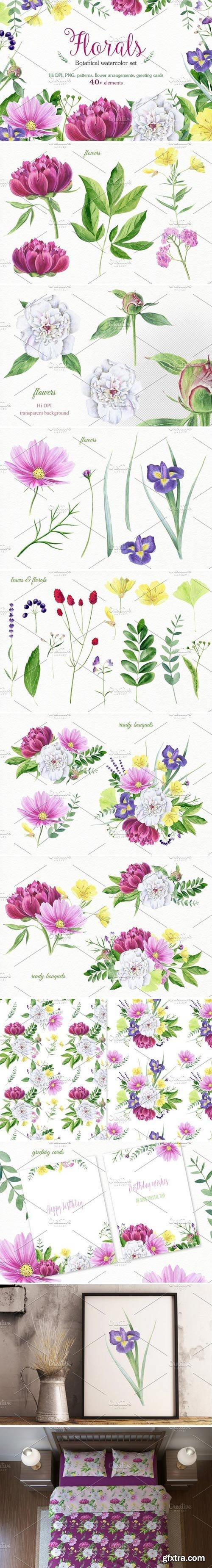 CM - Florals watercolor set 1597550