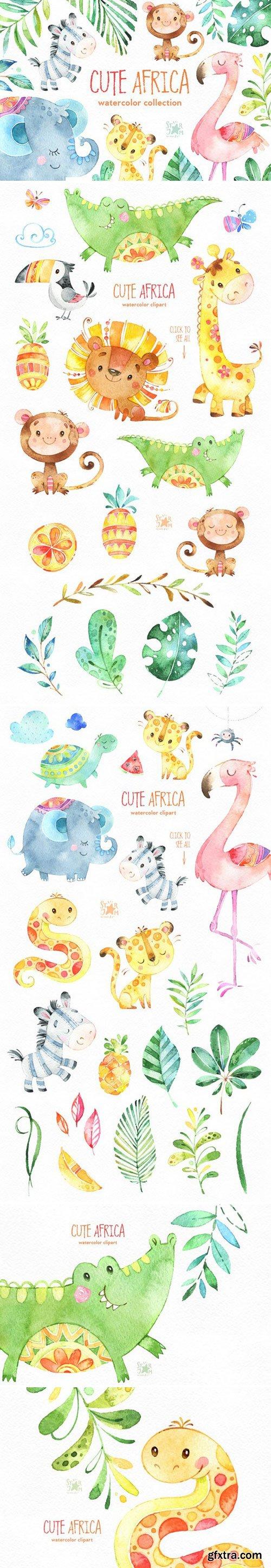 CM - Cute Africa. Animals & Florals. 1597665