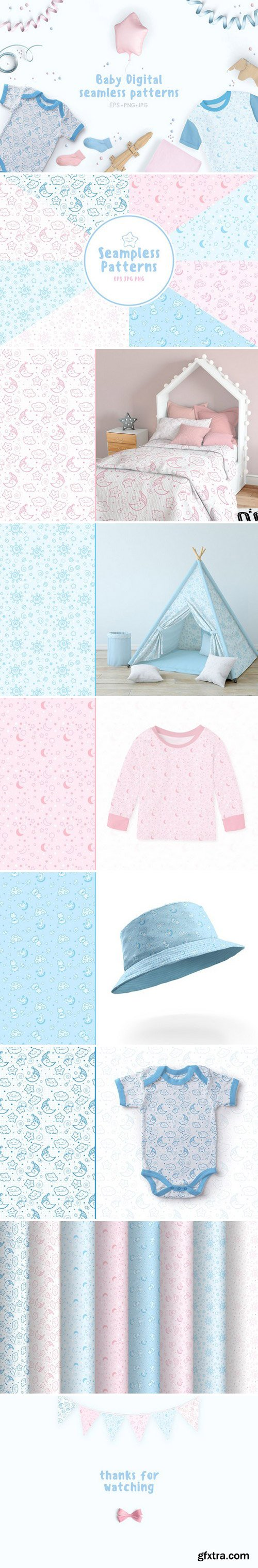 CM - Baby Digital 8 seamless patterns! 2340086