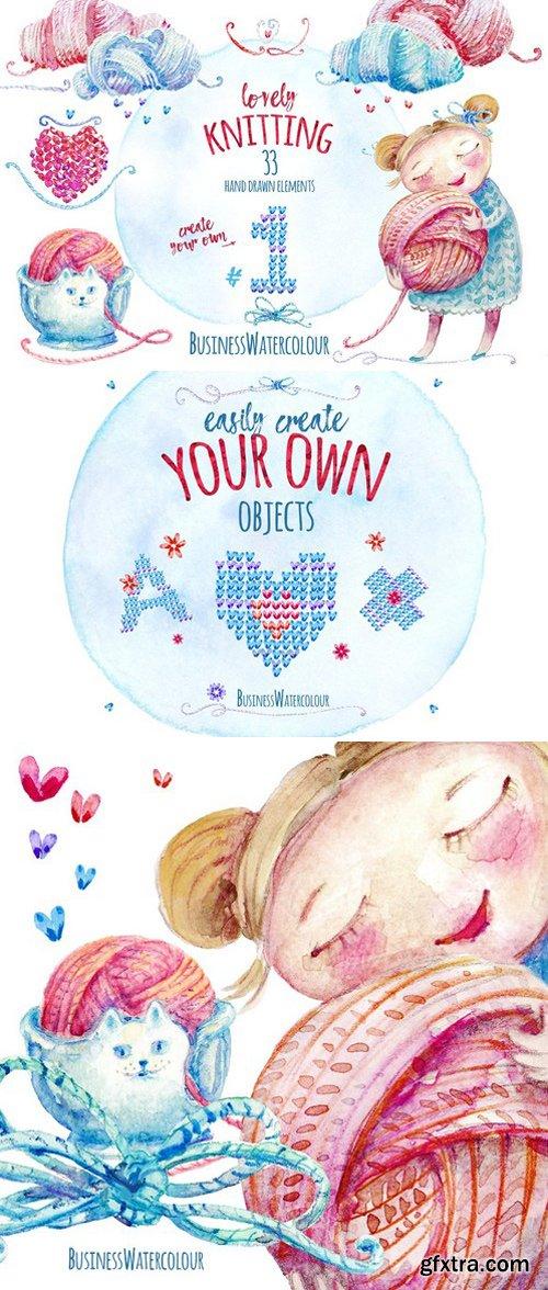CM - Lovely Knitting Clipart #1 2340015