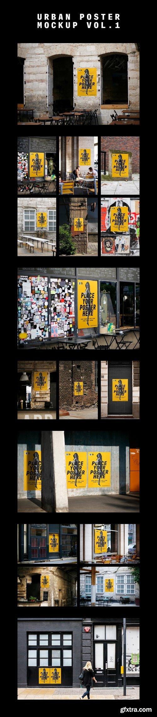 cm urban poster mockup bundle 1418745