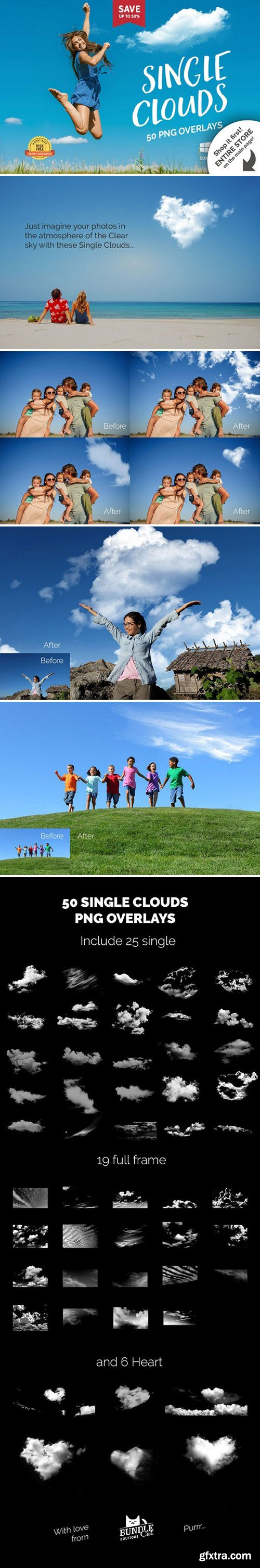 CM - 50 Single Clouds Photo Overlays 2321313