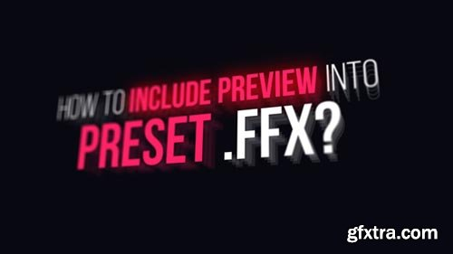 Videohive - Preview Designer FFX - 21252183