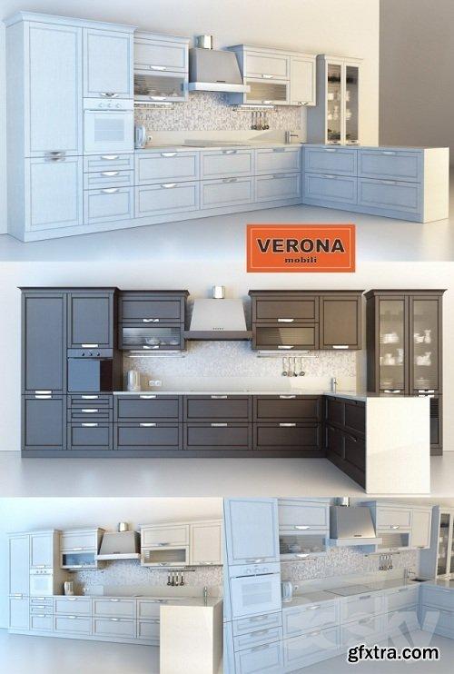 Verona Naomi Bianco Kitchen 3d Model