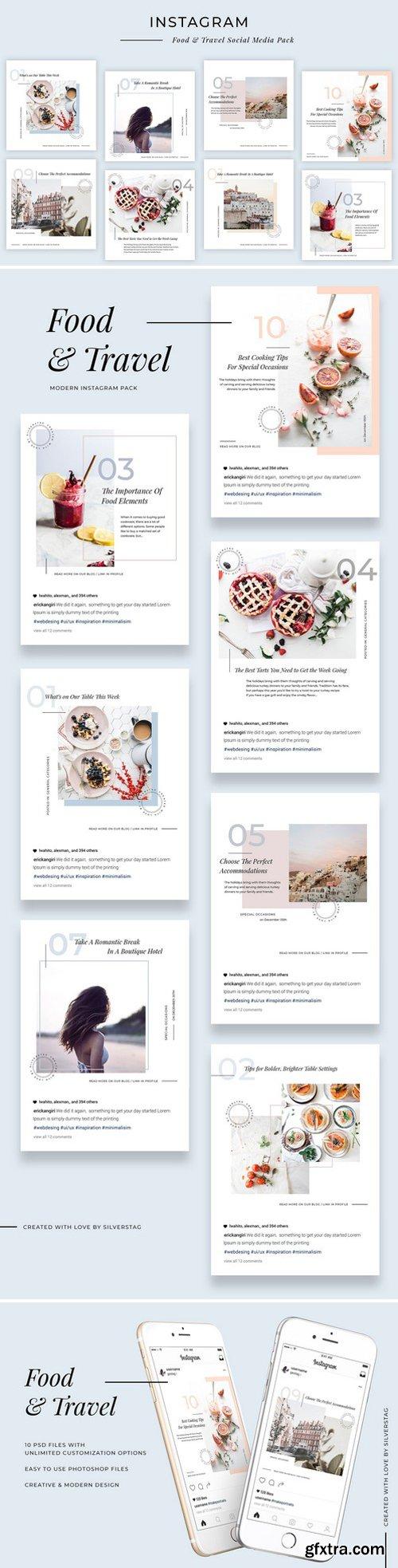 CM - Modern Food & Travel Instagram Pack 2340034