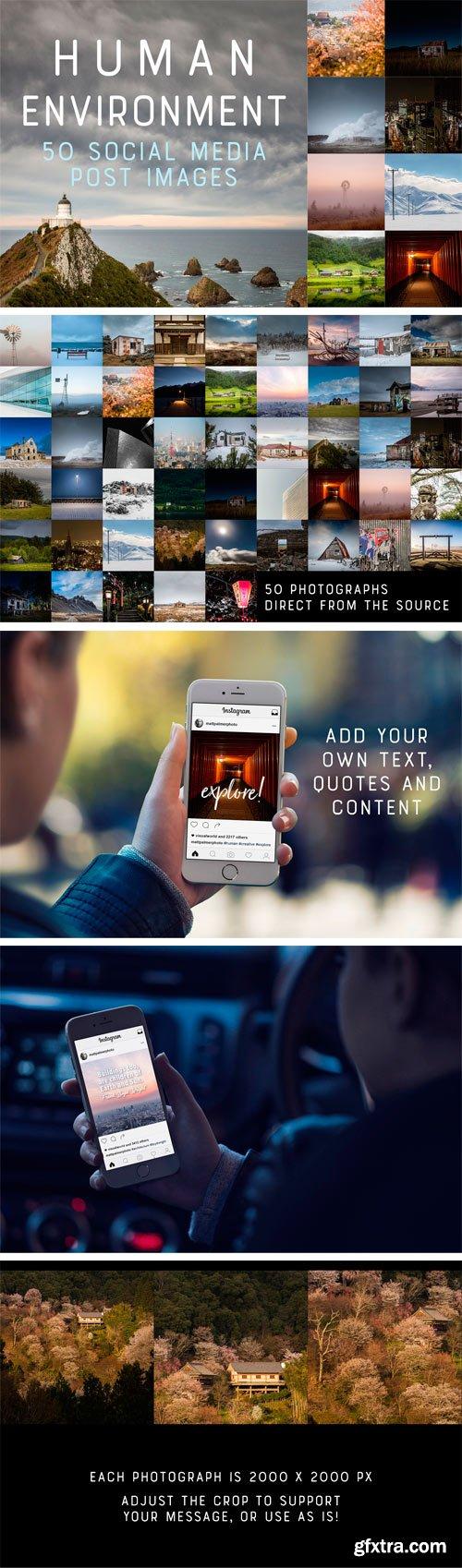 CM - 50 Social Media Backdrops - Man Made 2296153