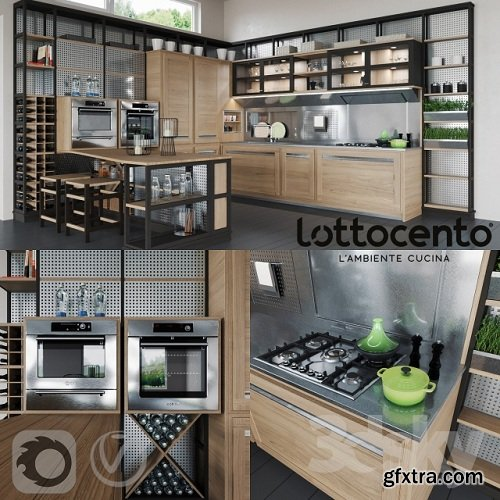 Roveretto kitchen 3d Model