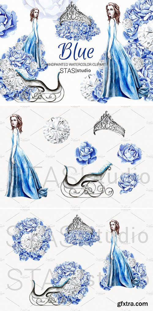 CM - Winter Fashion Blue Clipart 1590363