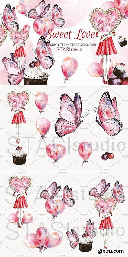 CM - Love Clipart Pink Butterflies 1590314
