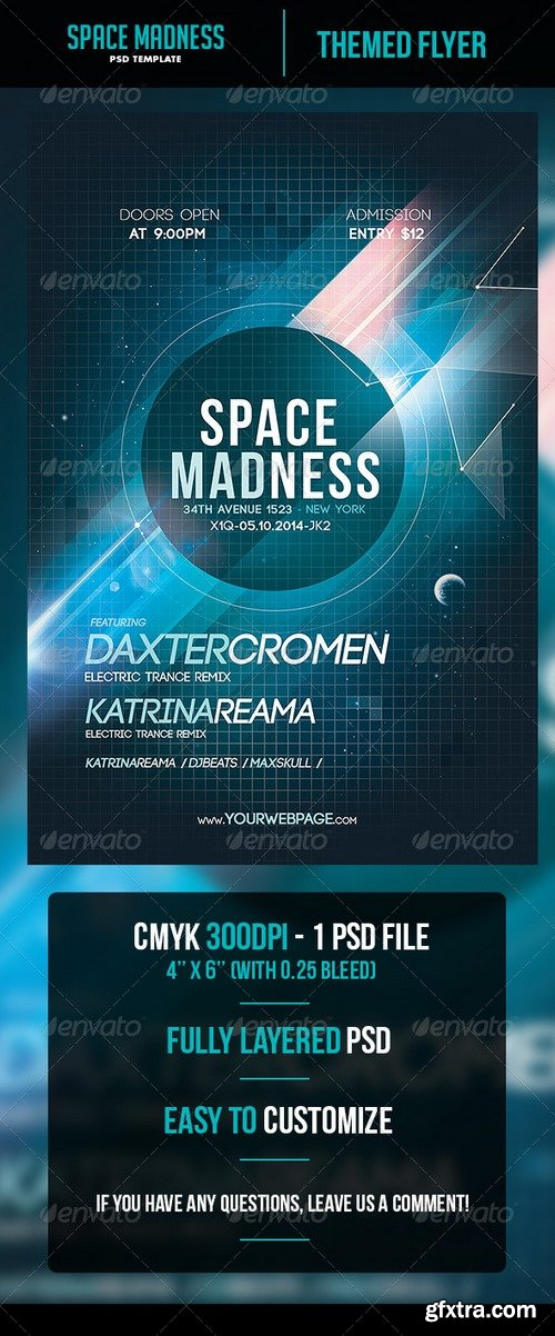 Graphicriver - Space Madness Flyer Template 5988292