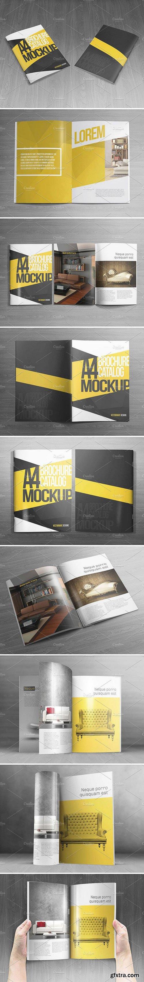 CM - A4 Brochure Catalog Mockups 1590486