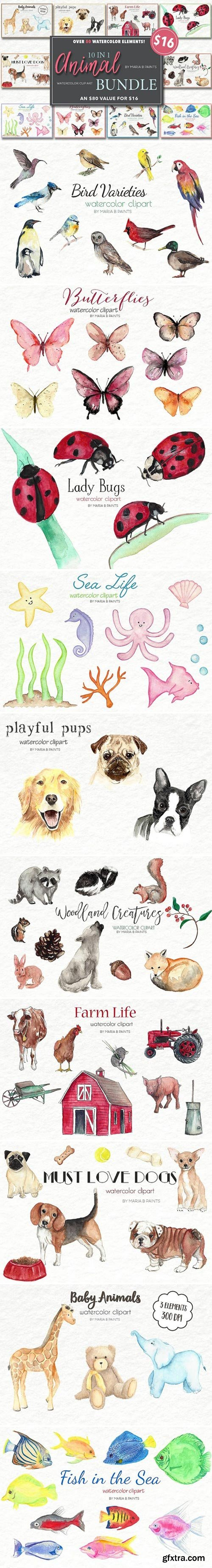 CM - Watercolor Clip Art - Animals 2104147