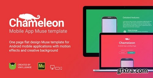 ThemeForest - Chameleon v1.0 - Android App Promo Site Muse Template -
