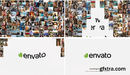 Videohive 10 Mosaic Logo Reveals 20728347