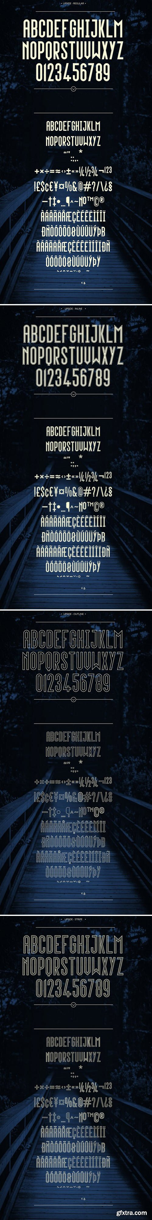 CM - Upside - Complete Family (4 fonts) 1647981