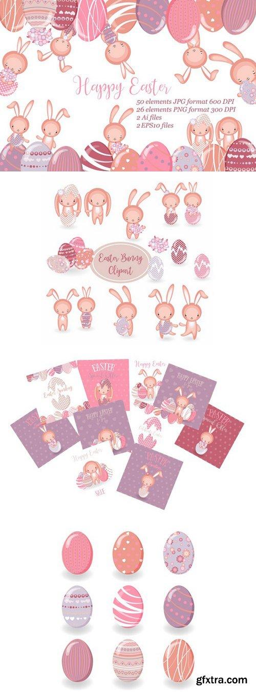 CM - Set of vector cute Easrer Bunny 2359564
