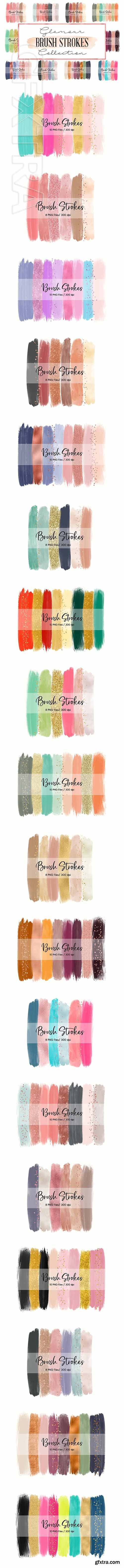 CreativeMarket - 180 in 1 Brush Strokes Bundle 2390203