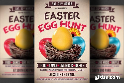 CM - Easter Egg Hunt Flyer Template 2355624