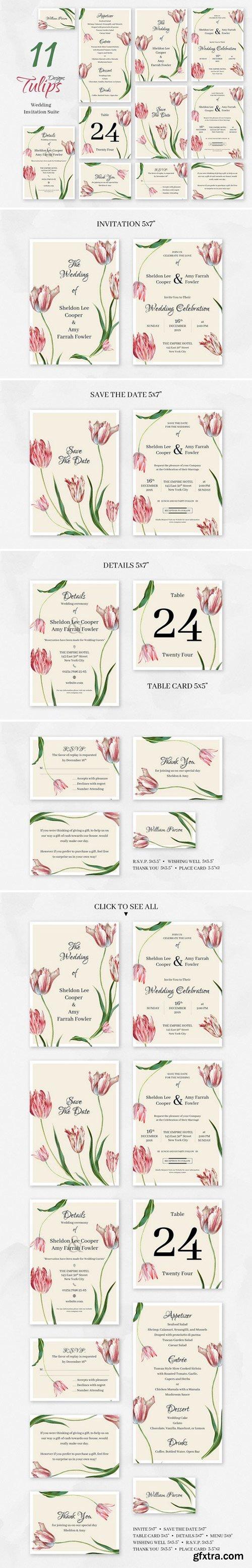 CM - Tulips. Wedding Invitation package 2357499