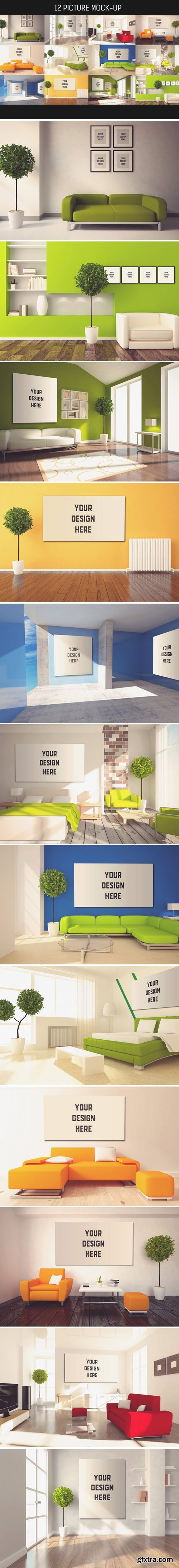 CM - 12 Picture on Wall Mock-up Pack#4 1586270