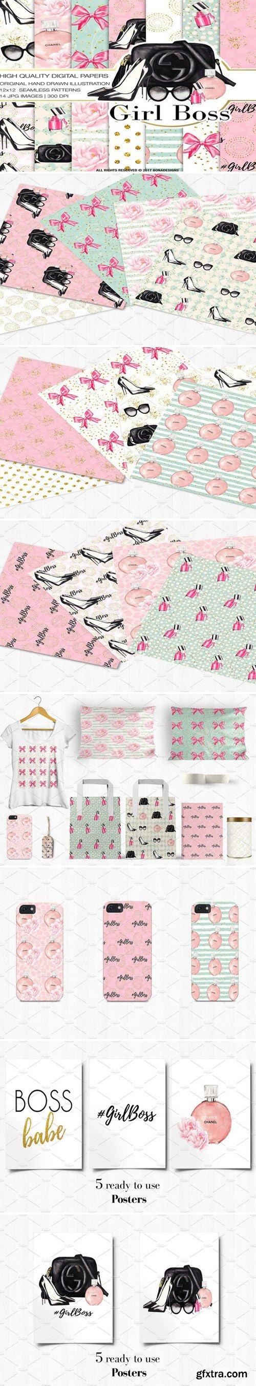 CM - GirlBoss Digital Paper+Bonus Posters 2212050